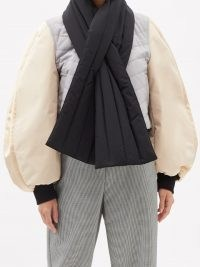 LOEWE Colour-block balloon-sleeve bomber jacket | volume sleeve jackets
