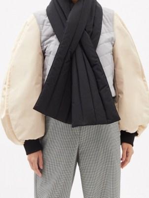 LOEWE Colour-block balloon-sleeve bomber jacket   volume sleeve jackets