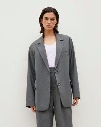RIVER ISLAND Grey RI Studio Oversized Blazer ~ womens drop shoulder blazers ~ women's fashionable jackets
