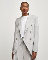 RIVER ISLAND Grey tuxedo jacket | womens fashionable tailored jackets