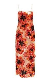 Nicole Kidman semi sheer floral dress, Rodarte Handbeaded Sleeveless Maxi Dress, attending the Academy Museum of Motion Pictures Opening Gala, 25 September 2021 | celebrity red carpet dresses | star style event fashion
