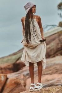 SPELL HARMONY STRAPPY DRESS PORCELAIN ~ spaghetti strap lace detail dresses ~ boho sunndresses ~ beautiful bohemian fashion