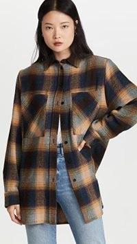 IRO Minsi Shirt Jacket – checked shackets – womens check print overshirts