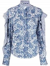 Isabel Marant Étoile paisley-print ruffled blouse – ruffle edge blouses