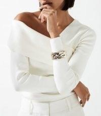 REISS KALI RIPPLE CUFF GOLD ~ rippled effect statement cuffs ~ womens chic fashion jewelley