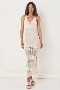 SPELL LET THE SUNSHINE IN CROCHET DRESS CREAM ~ semi sheer knitted dresses ~ boho knitwear