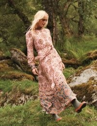 BODEN Mariam Dress Old Rose, Intricate Tapestry / ruffle trim floral dresses