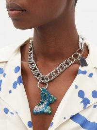 CHOPOVA LOWENA Butterfly stainless-steel necklace / chunky pendant necklaces / butterfies / insect themed statement jewellery