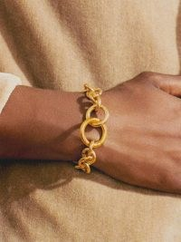 LAURA LOMBARDI Fede 14kt gold-plated chain bracelet – womens chunky link bracelets – women's chic contemporary jewellery