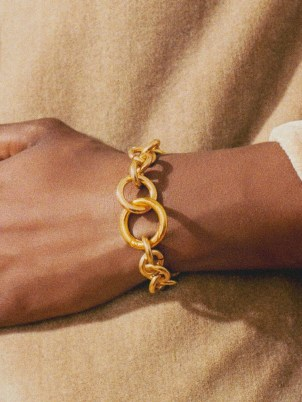 LAURA LOMBARDI Fede 14kt gold-plated chain bracelet – womens chunky link bracelets – women's chic contemporary jewellery - flipped