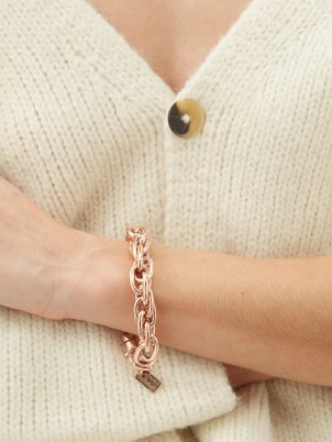 LAUREN RUBINSKI Rope-chain 14kt rose-gold bracelet – womens luxe chunky chain bracelets - flipped