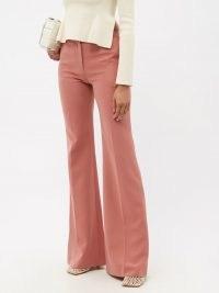 ALTUZARRA Newton pink flared-leg cady suit trousers ~ womens retro flares