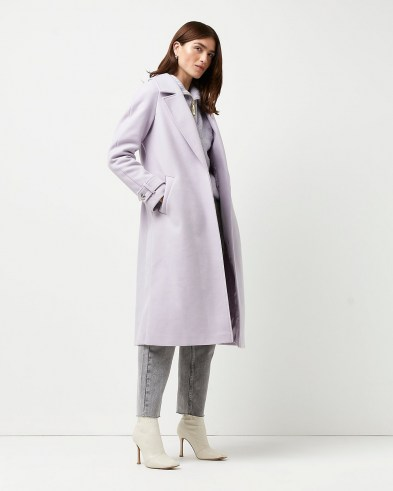 RIVER ISLAND Purple relaxed duster coat ~ longline open front coats - flipped