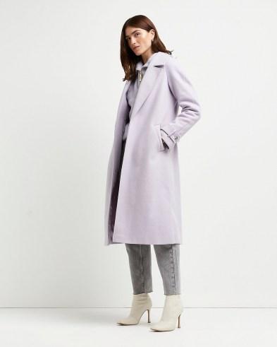 RIVER ISLAND Purple relaxed duster coat ~ longline open front coats
