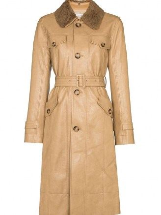 Rejina Pyo Hana detachable-collar trench coat | womens beige belted coats | women's stylish autumn outerwear - flipped