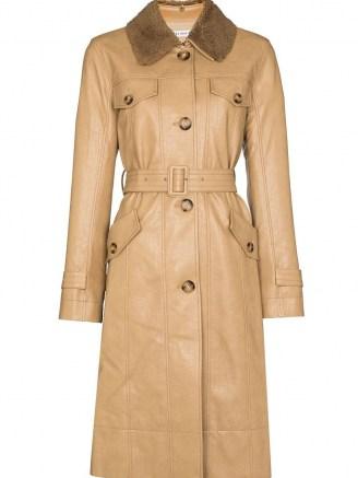 Rejina Pyo Hana detachable-collar trench coat | womens beige belted coats | women's stylish autumn outerwear