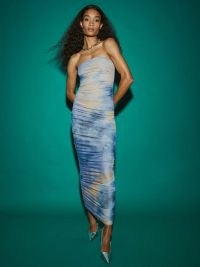 REFORMATION Shea Dress Tie Dye / strapless ruched column dresses