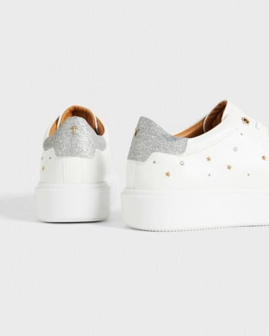 TED BAKER STARRIY Star Studded Platform Trainer / sports luxe trainers / glitter back sneakers