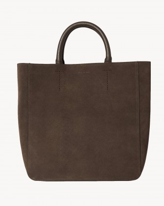 NILI LOTAN THE NL TOTE Espresso ~ chic suede top handle bags