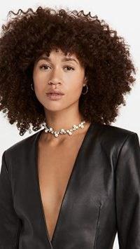 Area Pearl Blanket Stitch Choker ~ crystal statement chokers ~ glamorous jewellery