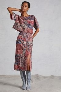 Nikita Mhaisalkar Sequined Abstract Skirt Set / sequinned mixed print fashion sets / skirts and tops co-ords