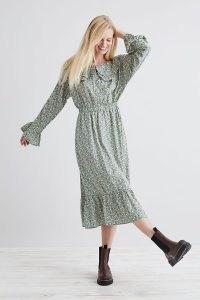 Lolly's Laundry Tilda Midi Dress / floral oversized collar dresses / tiered hem