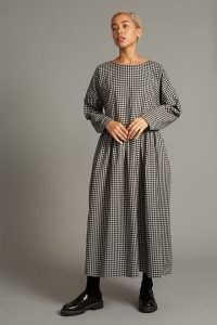 Kate Sheridan Gingham Midi Dress / checked relaxed fit dresses