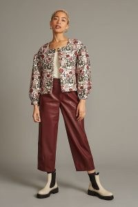 Meadows Cypress Jacket / floral puff sleeve jackets / womens volume sleeved outerwear