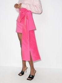 Bernadette Bernard bow mini skirt in hot pink ~ cute skirts with oversized statement bows