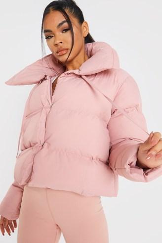 BILLIE FAIERS BLUSH SHORT PUFFER JACKET ~ pink padded celebrity inspired winter jackets