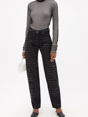 MAXIMILIAN Harlequin gloss-print jeans   womens printed denim - flipped