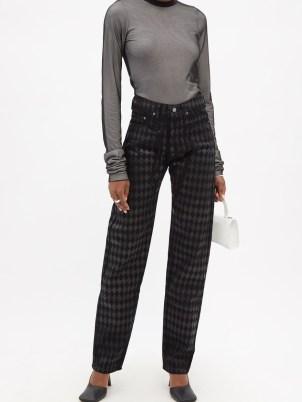 MAXIMILIAN Harlequin gloss-print jeans   womens printed denim