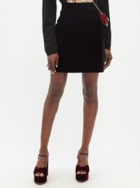 THE VAMPIRE'S WIFE Nearly Nuthin' black cotton-velvet mini skirt – luxe style soft feel skirts