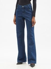 RAF SIMONS Kick-flare jeans | womens blue deighner denim fashion | casual style | flares