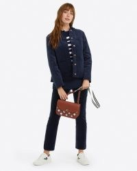 DRAPER JAMES Bootcut Pants in Micro Corduroy Nassau navy – dark blue cord trousers