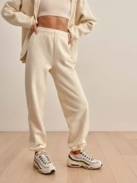 REFORMATION Boyfriend Sweatpant in Almond ~ organic cotton sweatpants ~ womens cuffed relaxed fit joggers
