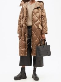 MAX MARA Roland coat in brown ~ chic padded winter coats ~ womens outerwear
