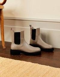 BODEN Chunky Chelsea Boots Irish Cream ~ womens on trend footwear