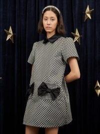 sister jane Starry Night Mini Dress Grey and Black – celestial star print dresses
