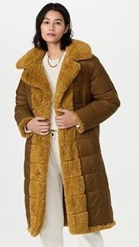 Essentiel Antwerp Reversible Alexander Faux Fur Puffer Coat / womens sherpa winter coats
