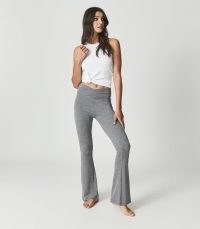 REISS FLO FLARED JERSEY TROUSERS GREY / chic loungewear flares / lounge pants