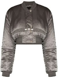 Givenchy metallic cropped bomber jacket | womens crop hem jackets