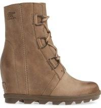 Joan of Arctic II Waterproof Wedge Boot in Ash Brown ~ wedged winter lace up boots ~ womens footwear
