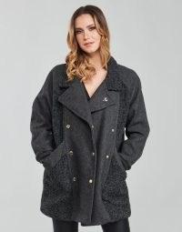 KAPORAL FLOWY Coat in Grey ~ womens casual winter coats ~ spartoo women's outerwear