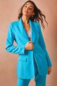 LORNA LUXE BLUE 'WORKING GIRL' BLAZER ~ on-trend celebrity inspired blazers