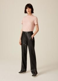 Me and Em Luxe Leather Track Pant ~ women's black luxury sports inspired pants ~ womens sportswear style trousers