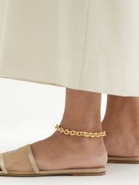 LAURA LOMBARDI Cable 14kt gold-plated cable-chain anklet – chunky chain anklets