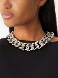 GIVENCHY G-link crystal-embellished necklace / glamorous statement necklaces / evening event occasion jewellery