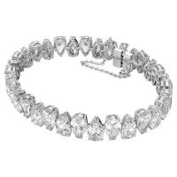 SWAROVSKI Millenia bracelet Pear cut Swarovski Zirconia, White, rhodium-plated – luxe style crystal bracelets – clear crystals