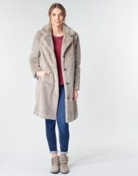 Oakwood CYBER Faux Fur Coat in Taupe ~ luxe style winter coats ~ spartoo womens outerwear